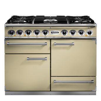 Falcon Range Cooker, Deluxe 1092, Gas-Kochfeld, cream, creme, Standherd, Landhausherd