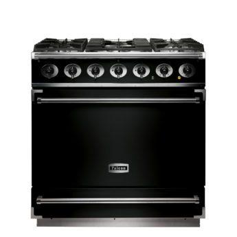 Falcon Range Cooker, 900s, Gas-kochfeld, black, schwarz, Standherd, Landhausherd