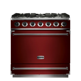 Falcon Range Cooker, 900s, Gas-kochfeld, cherry red, rot, Standherd, Landhausherd