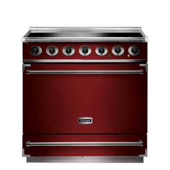 Falcon Range Cooker, 900s, Induktions-kochfeld, cherry red, rot, Standherd, Landhausherd