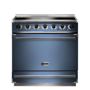 Falcon Range Cooker, 900s, Induktions-kochfeld, china blue, blau, Standherd, Landhausherd