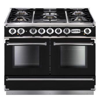 Falcon Range Cooker, Continental 1092, Gas-kochfeld, black, schwarz, Standherd, Landhausherd