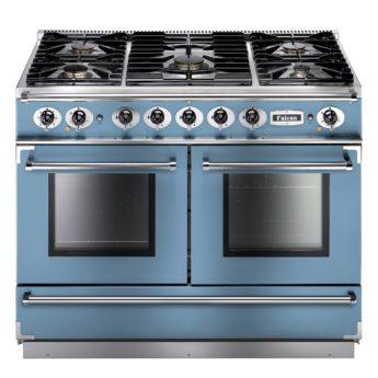 Falcon Range Cooker, Continental 1092, Gas-kochfeld, china blue, blau, Standherd, Landhausherd