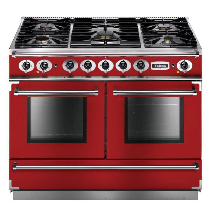Falcon Range Cooker, Continental 1092, Gas-kochfeld, cherry red, rot, Standherd, Landhausherd