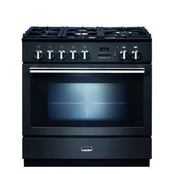 Falcon Range Cooker, Professional Plus FXP 90, Gas-kochfeld, slate, grau, Standherd, Landhausherd