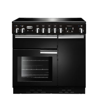 Falcon Range Cooker, Professional Plus 90, Induktions-kochfeld, black, schwarz, Standherd, Landhausherd