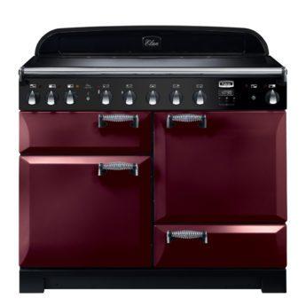 Falcon Range Cooker, Elan Deluxe 110, Induktions-Kochfeld, cranberry, rot, Standherd, Landhausherd