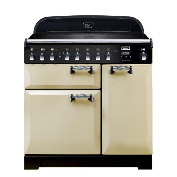 Falcon Range Cooker, Elan Deluxe 90, Induktions-kochfeld, cream, creme, Standherd, Landhausherd