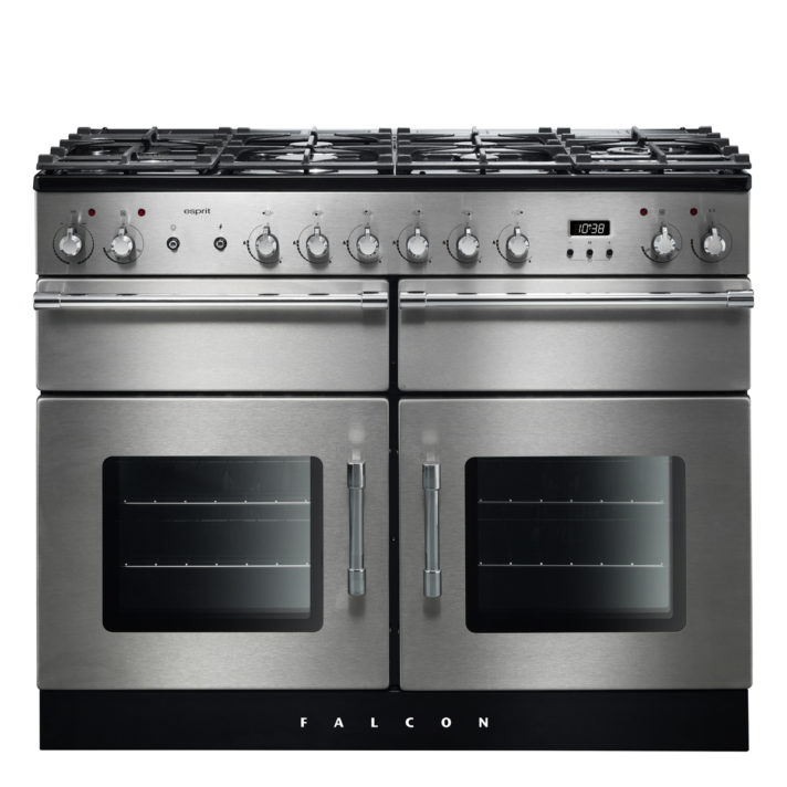 Falcon Range Cooker, Esprit 110, Gas-kochfeld, stainless steel, stahl, grau, Standherd, Landhausherd