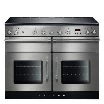 Falcon Range Cooker, Esprit 110, Induktions-kochfeld, stainless steel, stahl, grau, Standherd, Landhausherd