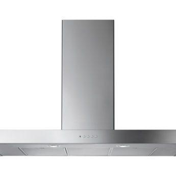 falcon kaminhaube flat hood steel chrome 90 100 110 cm