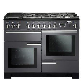 Falcon Range Cooker, Professional Deluxe 110, Gas-kochfeld, slate, grau, Standherd, Landhausherd