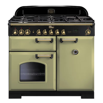 Falcon Range Cooker, Classic Deluxe 100, Gaskochfeld, Green, Grün, Standherd, Landhausherd