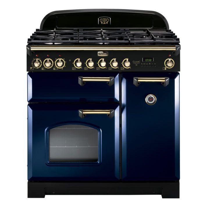 Falcon Range Cooker, Classic Deluxe 90, Gas-kochfeld, Blue, Blau, Standherd, Landhausherd