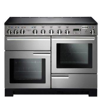 Falcon Range Cooker, Professional Deluxe 110, Induktions-kochfeld, stainless steel, stahl, grau, Standherd, Landhausherd
