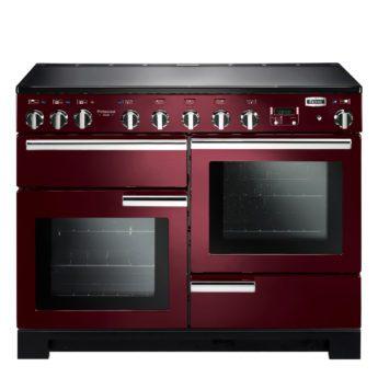 Falcon Range Cooker, Professional Deluxe 110, Induktions-kochfeld, cranberry, rot, Standherd, Landhausherd