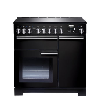 Falcon Range Cooker, Professional Deluxe 90, Induktions-kochfeld, black, schwarz, Standherd, Landhausherd