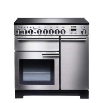 Falcon Range Cooker, Professional Deluxe 90, Induktions-kochfeld, stainless steel, stahl, grau, Standherd, Landhausherd