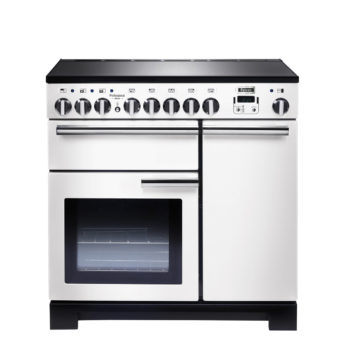 Falcon Range Cooker, Professional Deluxe 90, Induktions-kochfeld, white, weiss, Standherd, Landhausherd