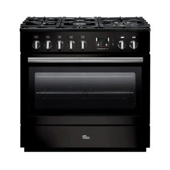 range cooker deutschland, falcon, professional+ fx, black, schwarz, landhausherd, standherd, gas-kochfeld