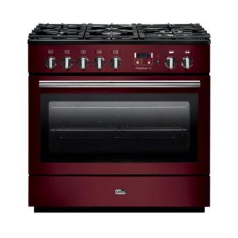 range cooker deutschland, falcon, professional+ fx, Cranberry, rot, landhausherd, standherd, gas-kochfeld