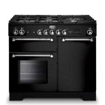 Falcon Range Cooker, Kitchener 100, Gas-kochfeld, black, schwarz, Standherd, Landhausherd
