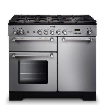 Falcon Range Cooker, Kitchener 100, Gas-kochfeld, stainless steel, stahl, grau, Standherd, Landhausherd