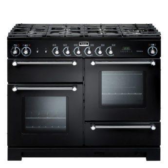 Falcon Range Cooker, Kitchener 110, Gas-kochfeld, black, schwarz, Standherd, Landhausherd