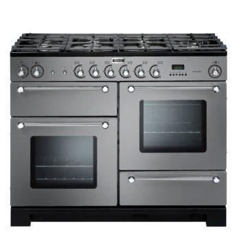 Falcon Range Cooker, Kitchener 110, Gas-kochfeld, stainless steel, stahl, grau, Standherd, Landhausherd