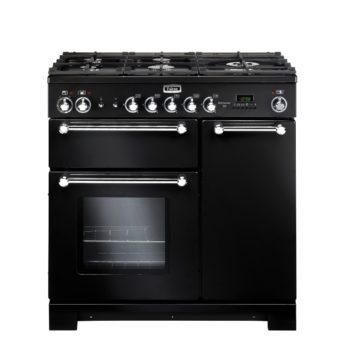 Falcon Range Cooker, Kitchener 90, Gas-kochfeld, black, schwarz, Standherd, Landhausherd