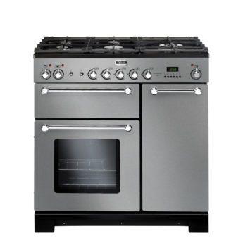 Falcon Range Cooker, Kitchener 90, Gas-kochfeld, stainless steel, stahl, grau, Standherd, Landhausherd