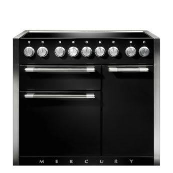 Falcon Range Cooker, Mercury 1000, Induktions-kochfeld, Black, Schwarz, Standherd, Landhausherd