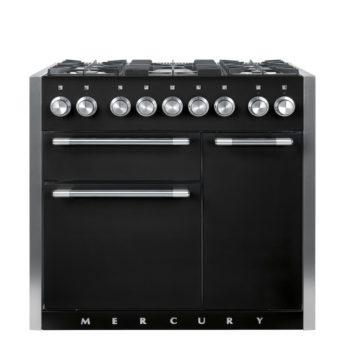 Falcon Range Cooker, Mercury 1000, Gas-kochfeld, Black matt, schwarz, Standherd, Landhausherd