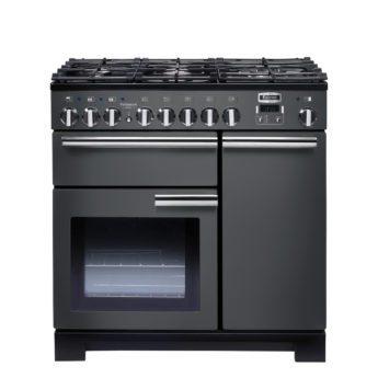 Falcon Range Cooker, Professional Deluxe 90, Gas-kochfeld, slate, grau, Standherd, Landhausherd