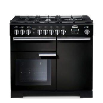 Falcon Range Cooker, Professional Deluxe 100, Gas-kochfeld, black, schwarz, Standherd, Landhausherd