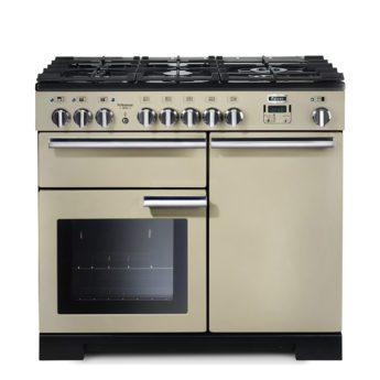 Falcon Range Cooker, Professional Deluxe 100, Gas-kochfeld, cream, creme, Standherd, Landhausherd