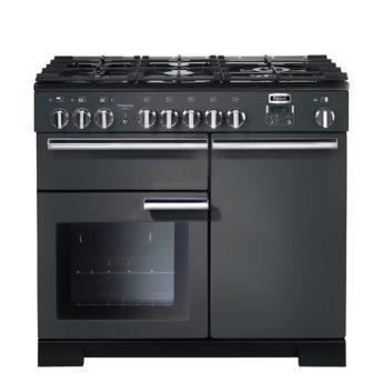 Falcon Range Cooker, Professional Deluxe 100, Gas-kochfeld, slate, grau, Standherd, Landhausherd