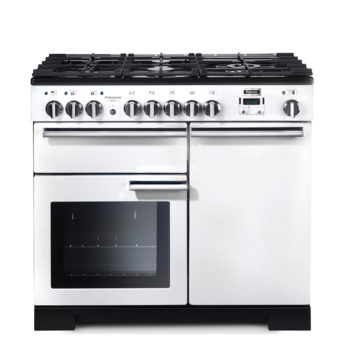Falcon Range Cooker, Professional Deluxe 100, Gas-kochfeld, white, weiss, Standherd, Landhausherd