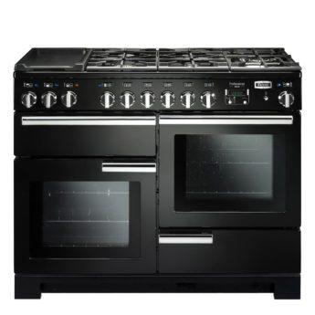Falcon Range Cooker, Professional Deluxe 110, Gas-kochfeld, black, schwarz, Standherd, Landhausherd