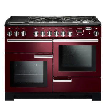 Falcon Range Cooker, Professional Deluxe 110, Gas-kochfeld, cranberry, rot, Standherd, Landhausherd