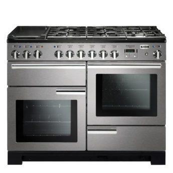 Falcon Range Cooker, Professional Deluxe 110, Gas-kochfeld, stainless steel, stahl, grau, Standherd, Landhausherd