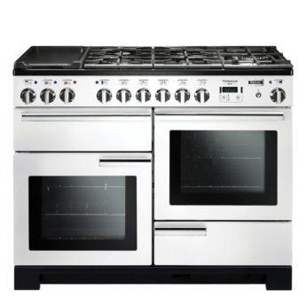 Falcon Range Cooker, Professional Deluxe 110, Gas-kochfeld, white, weiss, Standherd, Landhausherd