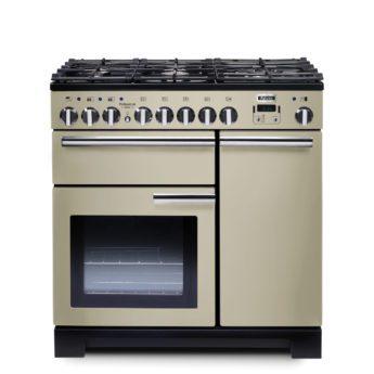 Falcon Range Cooker, Professional Deluxe 90, Gas-kochfeld, cream, creme, Standherd, Landhausherd