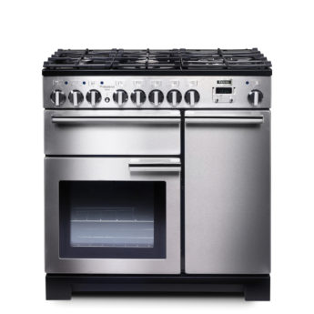 Falcon Range Cooker, Professional Deluxe 90, Gas-kochfeld, stainless steel, stahl, grau, Standherd, Landhausherd