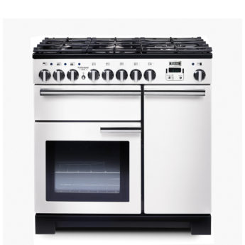 Falcon Range Cooker, Professional Deluxe 90, Gas-kochfeld, white, weiss, Standherd, Landhausherd