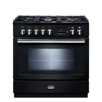 Falcon Range Cooker, Professional Plus FXP 90, Gas-kochfeld, black, schwarz, Standherd, Landhausherd