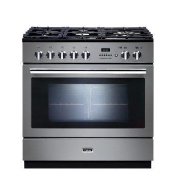 Falcon Range Cooker, Professional Plus FXP 90, Gas-kochfeld, stainless steel, stahl, grau, Standherd, Landhausherd
