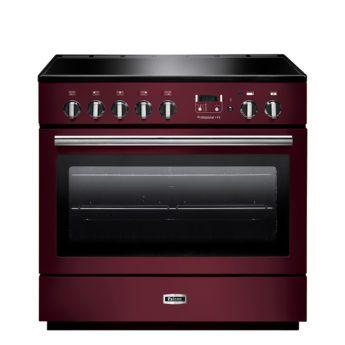 Falcon Range Cooker, Professional Plus FX 90, Induktions-kochfeld, cranberry, rot, Standherd, Landhausherd