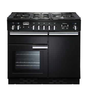 Falcon Range Cooker, Professional Plus 100, Gas-kochfeld, black, schwarz, Standherd, Landhausherd