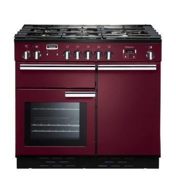 Falcon Range Cooker, Professional Plus 100, Gas-kochfeld, cranberry, rot, Standherd, Landhausherd